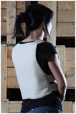 DVC covert bullet proof vest - Rear view